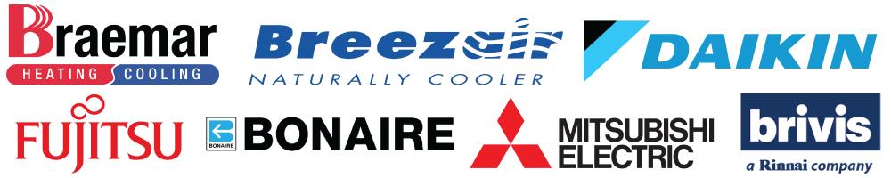 Braemar, Breezair, Brivis, Bonaire, Daikin, Fujitsu, Mitsubishi, Samsung, & More